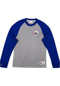 Philadelphia 76ers Mitchell and Ness Play by Play Fashion T Shirt - Grey