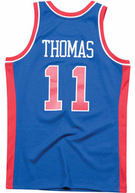 Isiah Thomas Detroit Pistons Mitchell and Ness 1988 Throwback Swingman Jersey - Blue