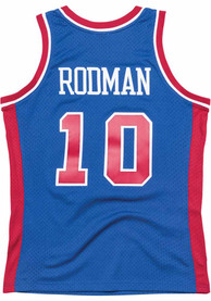 Dennis Rodman Detroit Pistons Mitchell and Ness 1988 Throwback Swingman Jersey - Blue