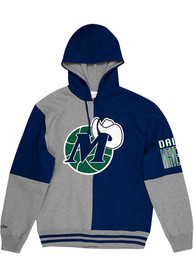Dallas Mavericks Mitchell and Ness Split Color Fashion Hood - Navy Blue