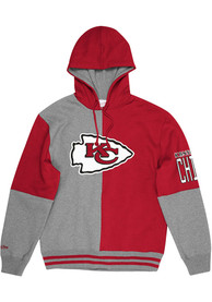 Kansas City Chiefs Mitchell and Ness Split Color Fashion Hood - Red