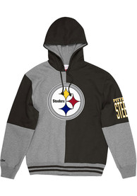Pittsburgh Steelers Mitchell and Ness Split Color Fashion Hood - Black