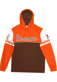 Cleveland Browns Mitchell and Ness Home Advantage Fashion Hood - Brown