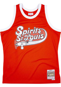 St Louis Spirits Mitchell and Ness Swingman Basketball Jersey - Orange