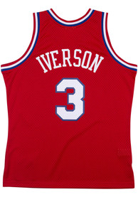 Allen Iverson Philadelphia 76ers Mitchell and Ness 2002 Throwback Swingman Jersey - Red