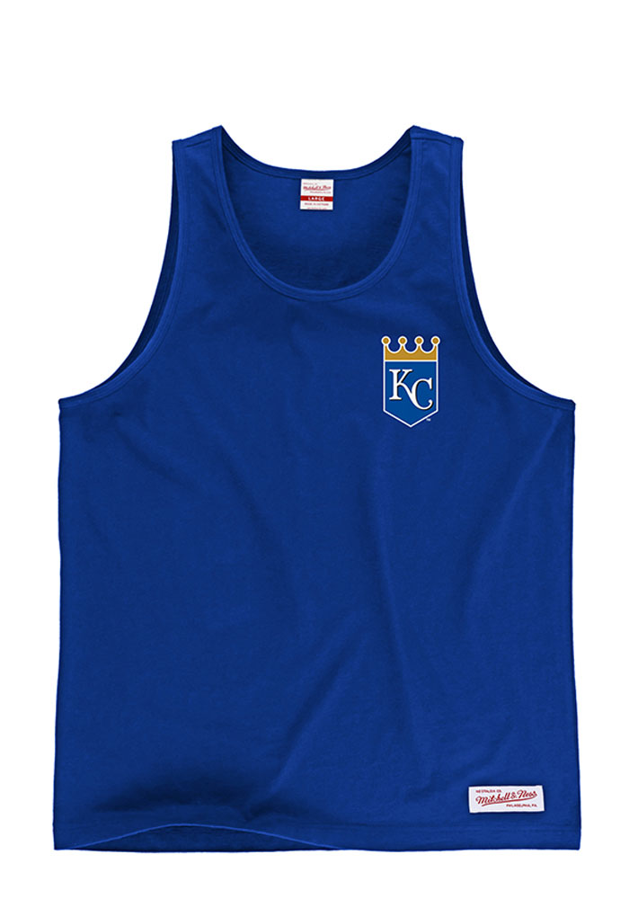 Mitchell and Ness Kansas City Royals Mens Light Blue Batters Box Short Sleeve Tank Top - Image 1