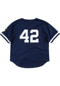 New York Yankees Mitchell and Ness Authentic Batting Practice Cooperstown Jersey - Navy Blue