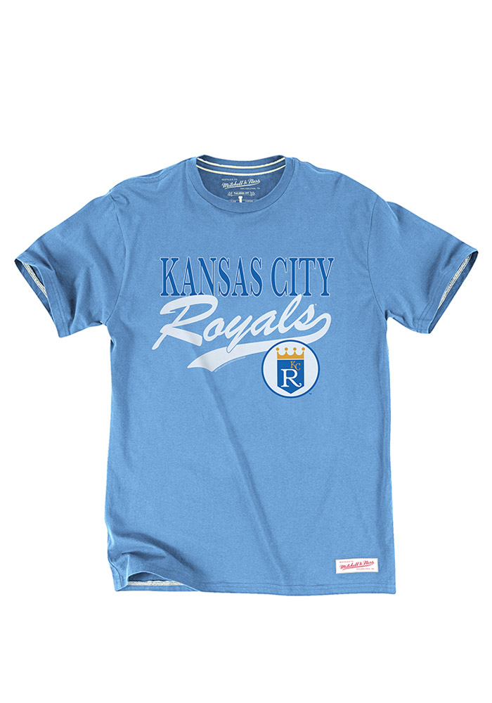 Mitchell and Ness KC Royals Blue Basket Catch Fashion Tee