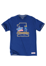 Mitchell and Ness Kansas City Royals Blue Number One Fashion Tee
