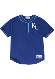 Mitchell and Ness Kansas City Royals Blue 8th Inning Fashion Tee