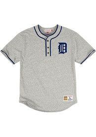 Mitchell and Ness Detroit Tigers Grey 8th Inning Baseball Fashion Tee