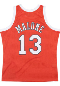 Moses Malone St Louis Spirits Mitchell and Ness Throwback Swingman Jersey - Orange