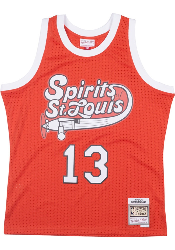 Moses Malone St Louis Spirits Mitchell and Ness Throwback Swingman Jersey - Image 2