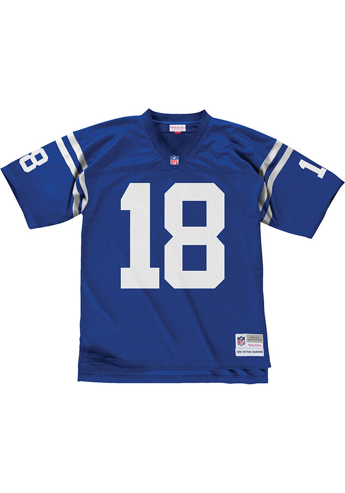 Peyton Manning Mitchell and Ness Indianapolis Colts Blue 1999.0 Football Jersey - Image 2