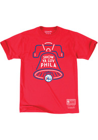 Mitchell and Ness Philadelphia 76ers Red Bell Fashion Tee