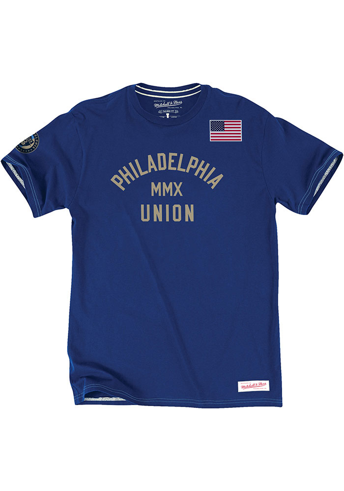 Philadelphia Union Mitchell and Ness Team History T Shirt - Blue