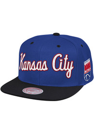 Kansas City Kings Mitchell and Ness 2T New Classic Adjustable Hat - Blue