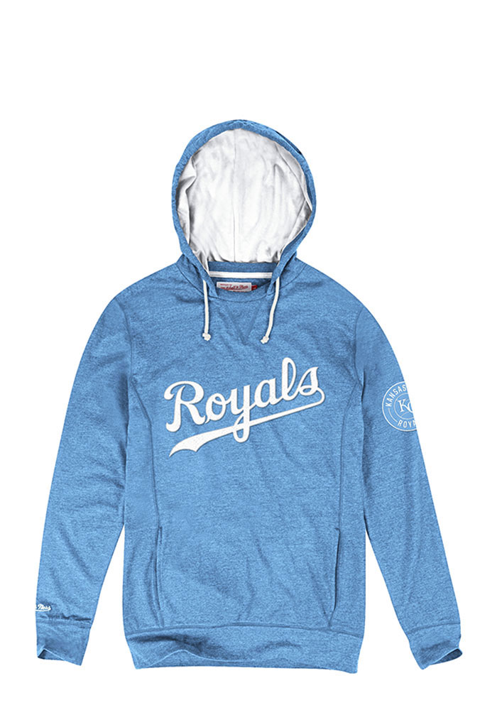Mitchell and Ness Kansas City Royals Mens Light Blue Away Team Fashion Hood - Image 1