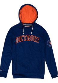 Mitchell and Ness Detroit Tigers Away Team Navy Blue Fashion Hood