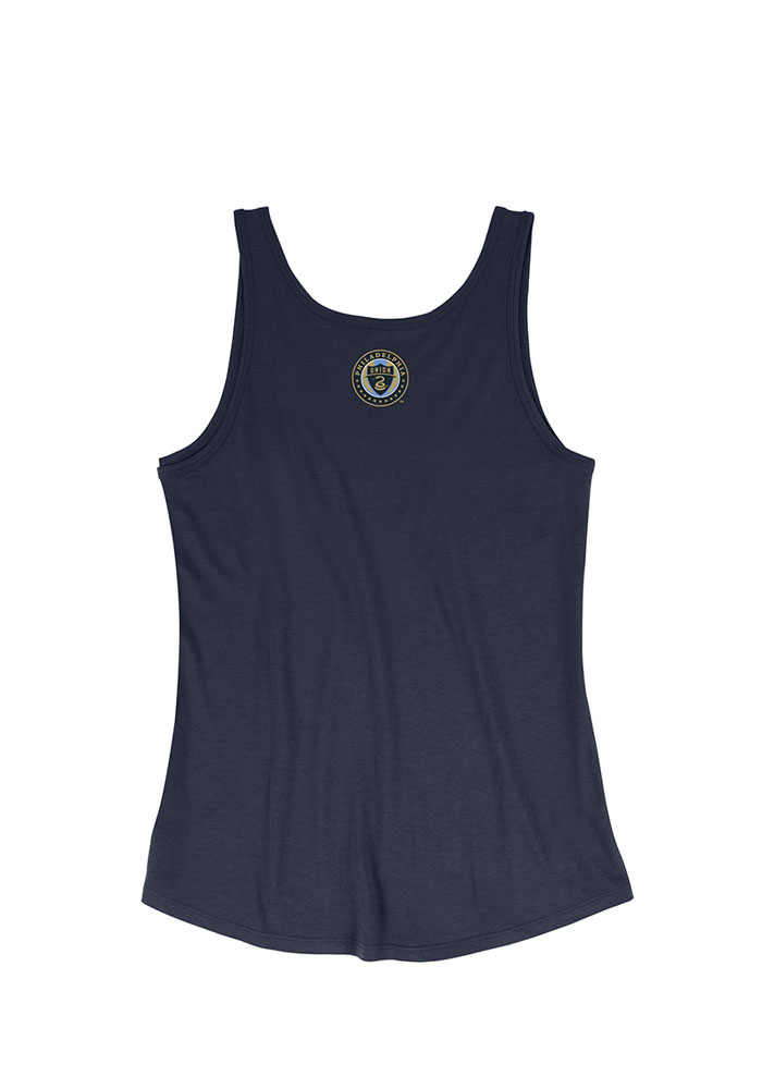 Mitchell and Ness Philadelphia Union Womens Navy Blue Playoff Tank Top - Image 2