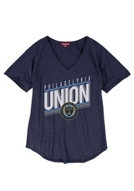 Mitchell and Ness Philadelphia Union Womens Navy Blue Race to the Finish T-Shirt