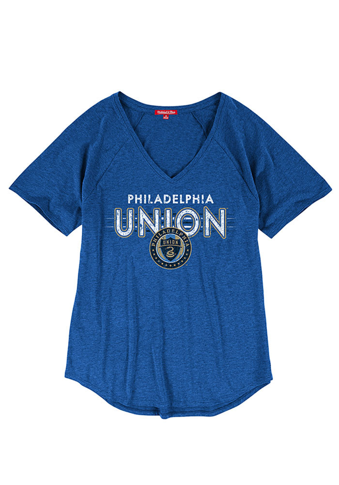 Mitchell and Ness Philadelphia Union Womens Light Blue Visiting Team V-Neck - Image 1