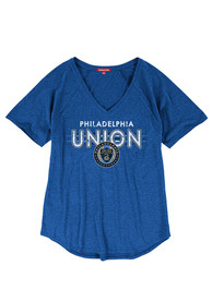 Mitchell and Ness Philadelphia Union Womens Light Blue Visiting Team T-Shirt