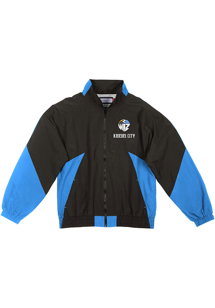 Mitchell and Ness Sporting Kansas City Mens Black 25th Anniversary KC Wizards Light Weight Jacket - Image 1