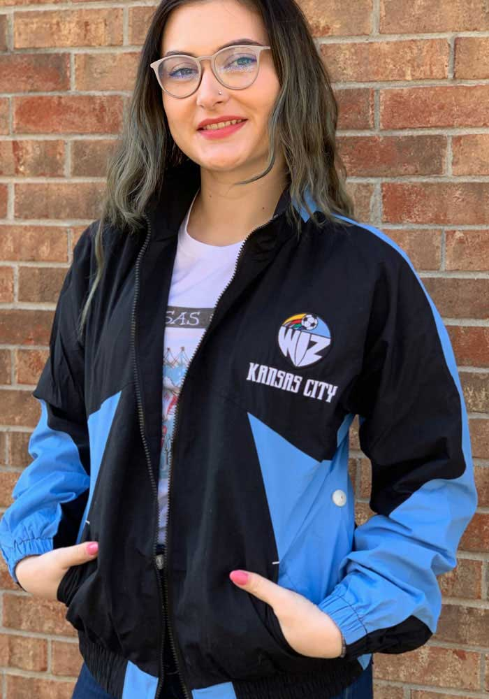 Mitchell and Ness Sporting Kansas City Mens Black 25th Anniversary KC Wizards Light Weight Jacket - Image 3