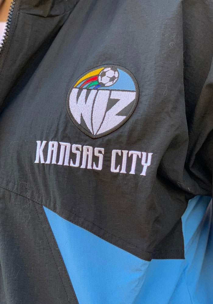 Mitchell and Ness Sporting Kansas City Mens Black 25th Anniversary KC Wizards Light Weight Jacket - Image 4