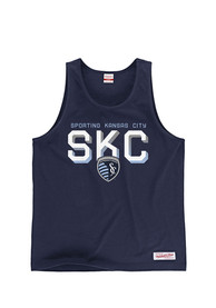 Sporting Kansas City Mitchell and Ness Beat the Defender Tank Top - Navy Blue