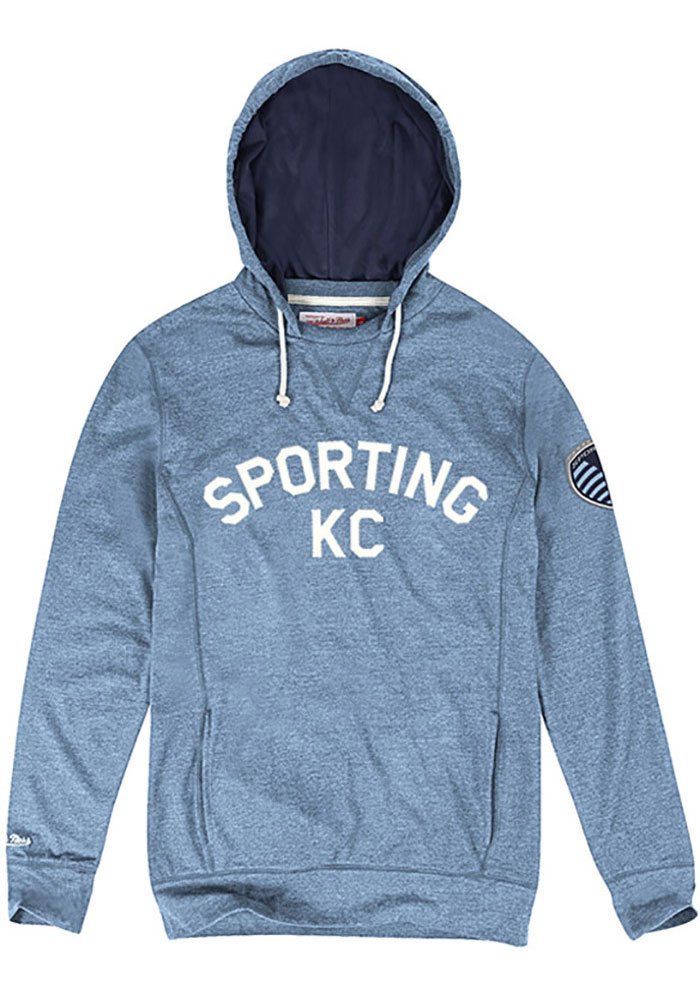 Mitchell and Ness Sporting Kansas City Mens Light Blue Away Team Fashion Hood - Image 1