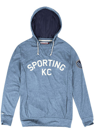 Mitchell and Ness SKC Mens Away Team Light Blue Fashion Hood