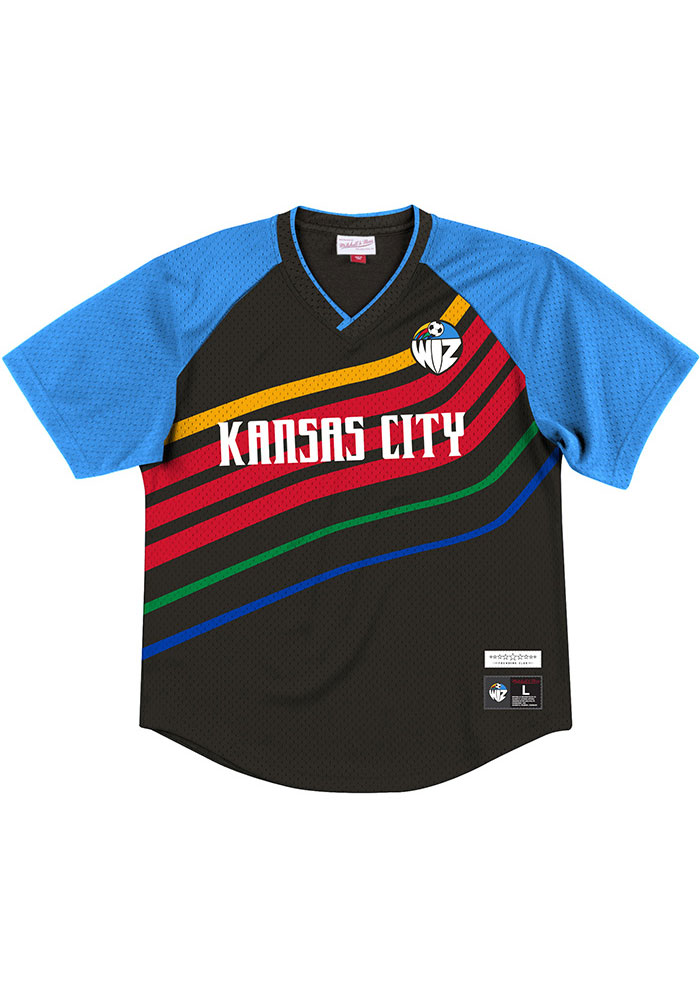 Mitchell and Ness Sporting Kansas City Black Sublimated Mesh KC Wizards Short Sleeve Fashion T Shirt - Image 1