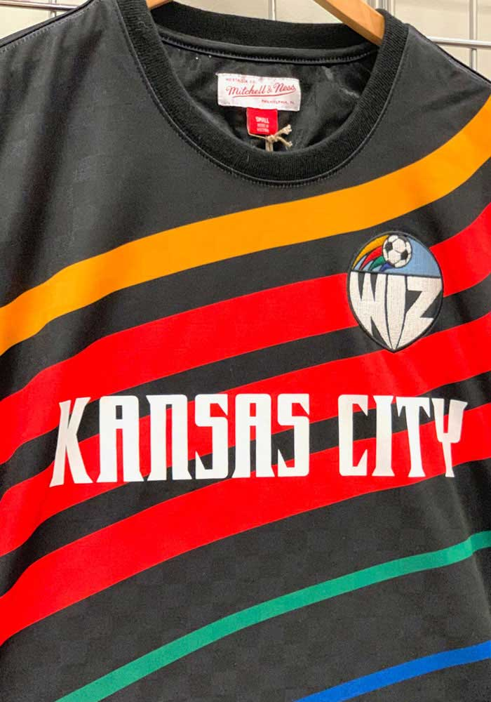 Mitchell and Ness Sporting Kansas City Black Sublimated KC Wizards Short Sleeve Fashion T Shirt - Image 3