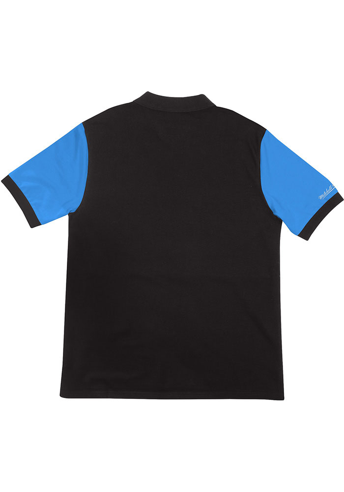 Mitchell and Ness Sporting Kansas City Mens Blue KC Wizards Color Blocked Short Sleeve Polo - Image 2