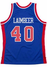 Bill Laimbeer Detroit Pistons Mitchell and Ness 1988 Throwback Swingman Jersey - Blue