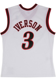 Allen Iverson Philadelphia 76ers Mitchell and Ness 2000 Throwback Swingman Jersey - White