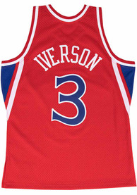 Allen Iverson Philadelphia 76ers Mitchell and Ness 1996 Throwback Swingman Jersey - Red