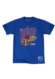 Detroit Pistons Mitchell and Ness Rings T Shirt - Blue