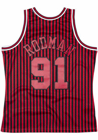 Dennis Rodman Chicago Bulls Mitchell and Ness Throwback Swingman Jersey - Red