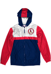 St Louis Cardinals Mitchell and Ness Margin Of Victory Light Weight Jacket - Navy Blue