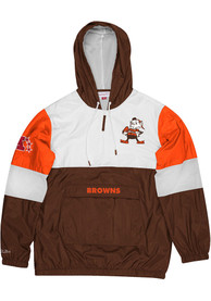 Cleveland Browns Mitchell and Ness Surprise Win Pullover Jackets - Brown