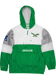 Philadelphia Eagles Mitchell and Ness Surprise Win Pullover Jackets - Kelly Green