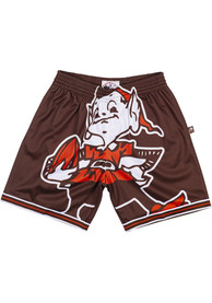 Cleveland Browns Mitchell and Ness Big Face Shorts - Brown