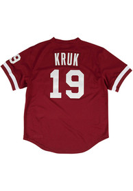 Philadelphia Phillies John Kruk Mitchell and Ness 1991 Throwback Cooperstown Jersey - Maroon
