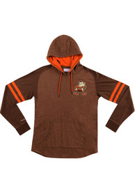 Cleveland Browns Mitchell and Ness Lightweight Hoody 2.0 Fashion Hood - Brown