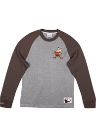 Cleveland Browns Mitchell and Ness Play by Play Fashion T Shirt - Brown