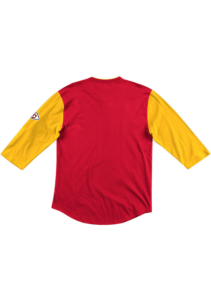 Mitchell and Ness Kansas City Chiefs Red Franchise Player Long Sleeve Fashion T Shirt - Image 2