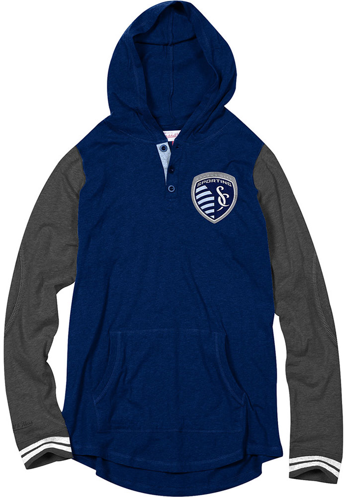Mitchell and Ness SKC MensNavy Blue Fashion Hood 56501537